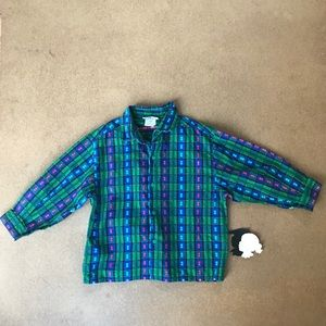Vintage button down 4y